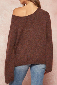 A Multicolor Fuzzy Knit Sweater  - KjSelections