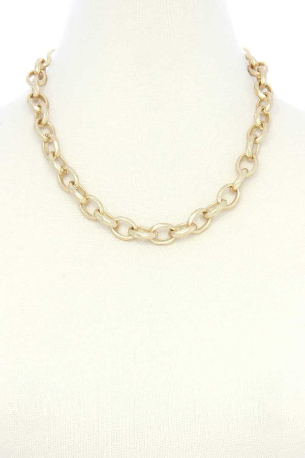 Circle Link Metal Necklacecircle Link Metal Necklace  - KjSelections