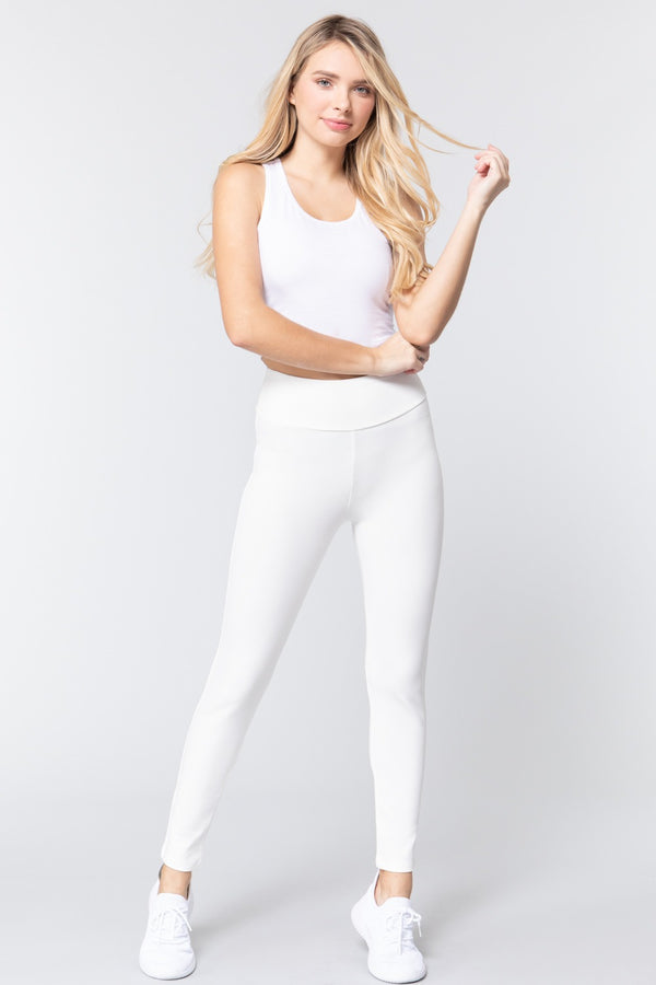 Waist Band Long Ponte Pants  - KjSelections