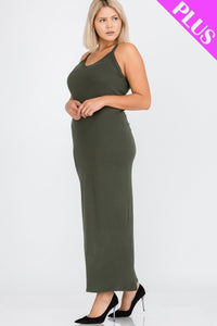 Plus Size Racer Back Maxi Dress  - KjSelections