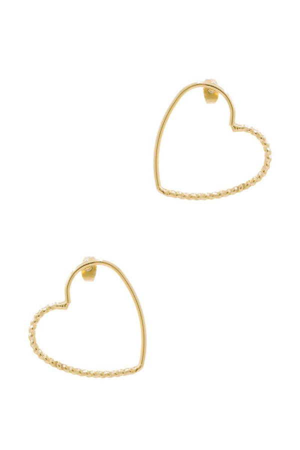Metal Heart Stud Earring  - KjSelections