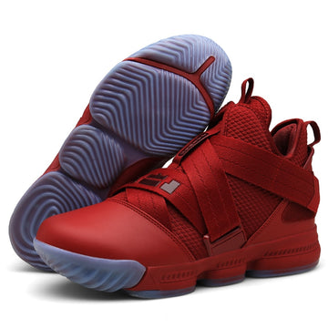 Mens Basketball Shoes Comfortable High Top Gym Training Sneakers