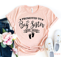 Promoted To Big Sister T-shirt  - KjSelections