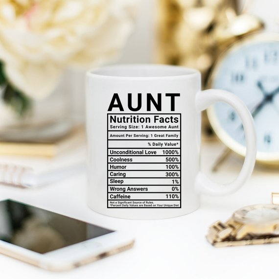 Mothers Day Gift For Aunt - Nutritional Facts  - KjSelections