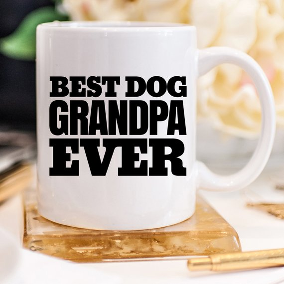 Best Dog Grandpa Ever, Dog Grandpa Gift, Dog Owner  - KjSelections