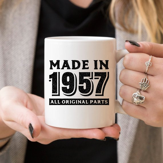 Made In 1957, All Original Parts - 61st Birthday  - KjSelections