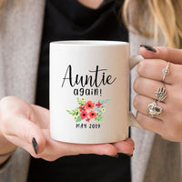 Aunt Pregnancy Announcement Cup Auntie Pregnancy  - KjSelections