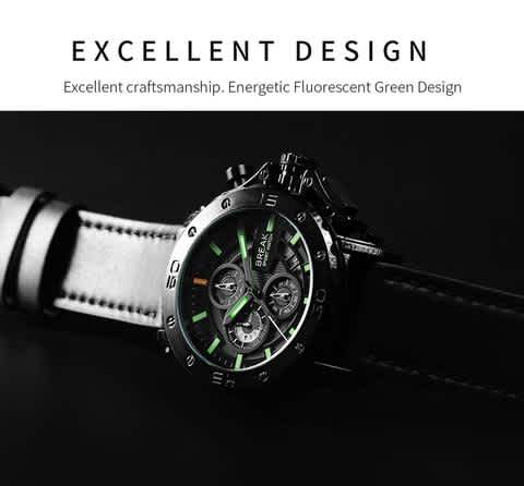 NEW MENS LUXURY CHRONOGRAPH CASUAL WATCH