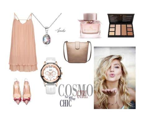 Hot sexy dainty top fashion outfit for women with accessories