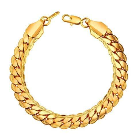 9MM GOLD CUBAN LINK BRACELET
