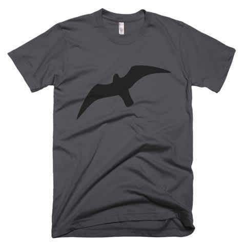 Men's American Apparel Short Sleeve Seagull T-Shirt, Premium Nature Inspired Tee for Man, Casual Sport Style T-Shirts, Seagull T Shirts, Bird T-Shirts, Mens Clothing