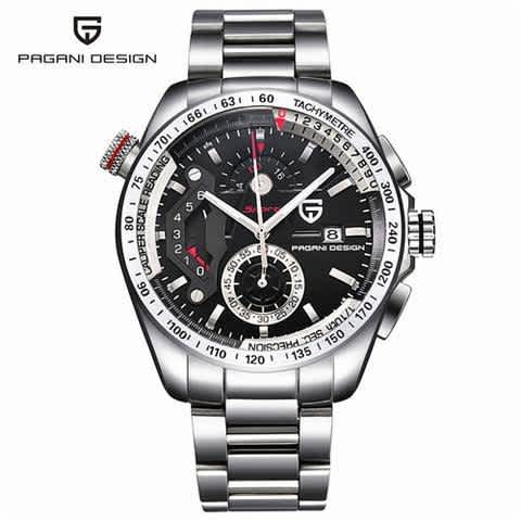 MEN'S STAINLESS STEEL OUTDOOR SPORTS WATCH JAPAN MOVEMENT
