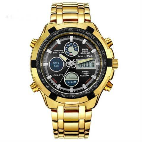 GOLD CHRONOGRAPH WATCH FOR MEN