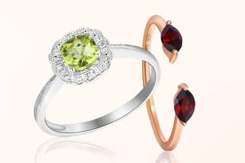 Discover Stunning gemstone rings available at KJSelections. Choose the Best Colored Gemstone Rings. Alternative non-traditional gemstone rings that are stylish, modern and timeless. Give her the best gift she can get.