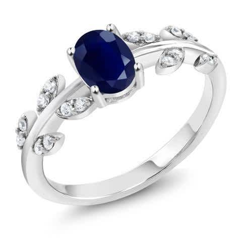 2.02 Ct Oval Blue Sapphire 925 Sterling Silver Ring. Anniversary ring, Engagement Ring, Promise Ring, Statement Ring, Wedding Ring, Gift for her.