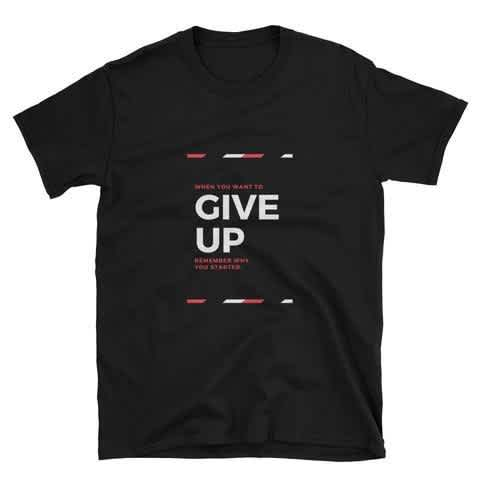 Never Give UP T-Shirt For Men