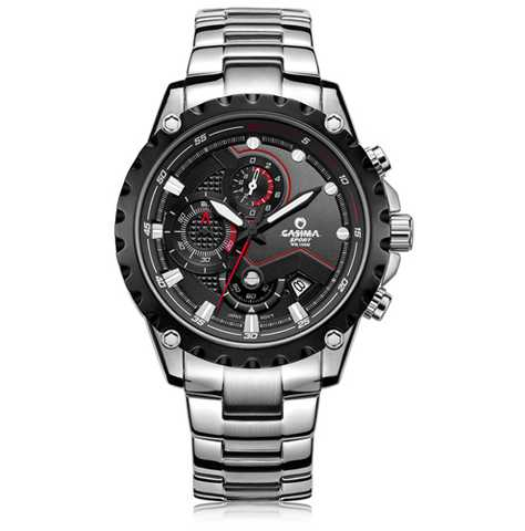Mens chronograph quartz watch, watches for men, man's watch, chronograph watch