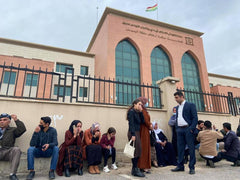 The family of prisoners who are on hunger strike outside Erbil prison