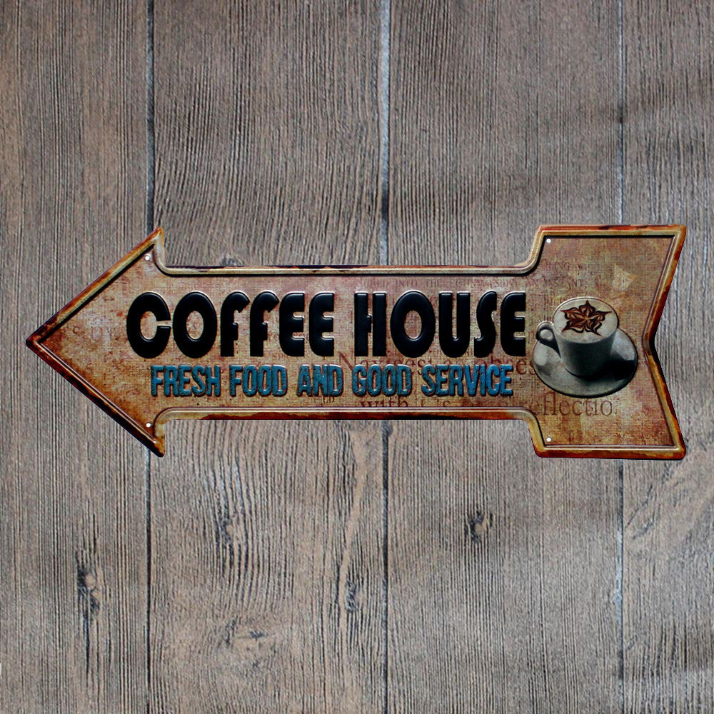 Metal Tin Sign the best coffee shop Bar Pub Vintage Retro Poster Cafe ART