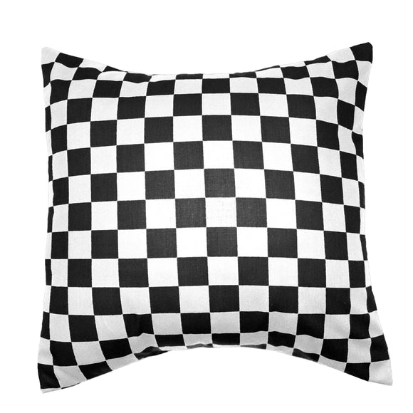 Cotton 1 Inch Checkerboard Print Decorative Throw Pillow/Sham Cushion Cover Black & White