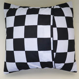 Cotton 2 Inch Checkerboard Print Decorative Throw Pillow/Sham Cushion Cover Black & White