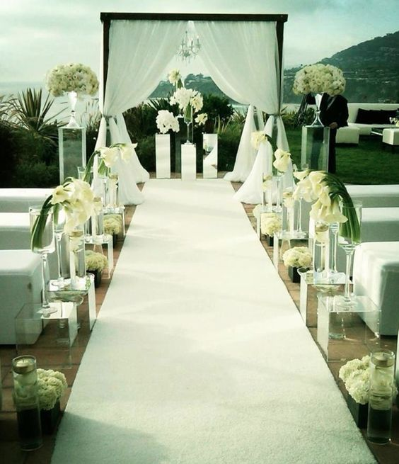 Felt Aisle Runner for Wedding Runway and VIP Events Solid White