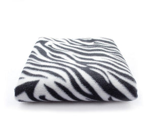 "lovemyfabric 36""X58"" Supper Soft Zebra Print Fleece Light Weight Blanket Couch/Sofa/Travel Throw-Black & White - Love My Fabric"