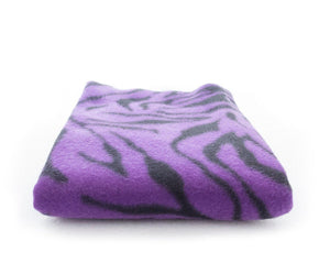 "lovemyfabric 36""X58"" Supper Soft Zebra Print Fleece Light Weight Blanket Couch/Sofa/Travel Throw-Black & Purple - Love My Fabric"