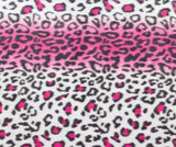 "lovemyfabric 36""X58"" Supper Soft Leopard Stripes Print Fleece Light Weight Blanket Couch/Sofa/Travel Throw-Hot Pink - Love My Fabric"