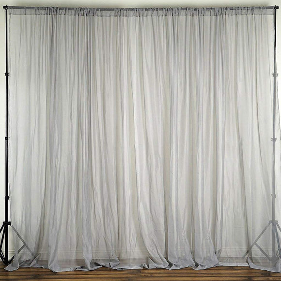 lovemyfabric Sheer Chiffon/Georgette Stage Backdrop, Drape, Curtain for Wedding, Reception, Special Events Wall and Window Decor
