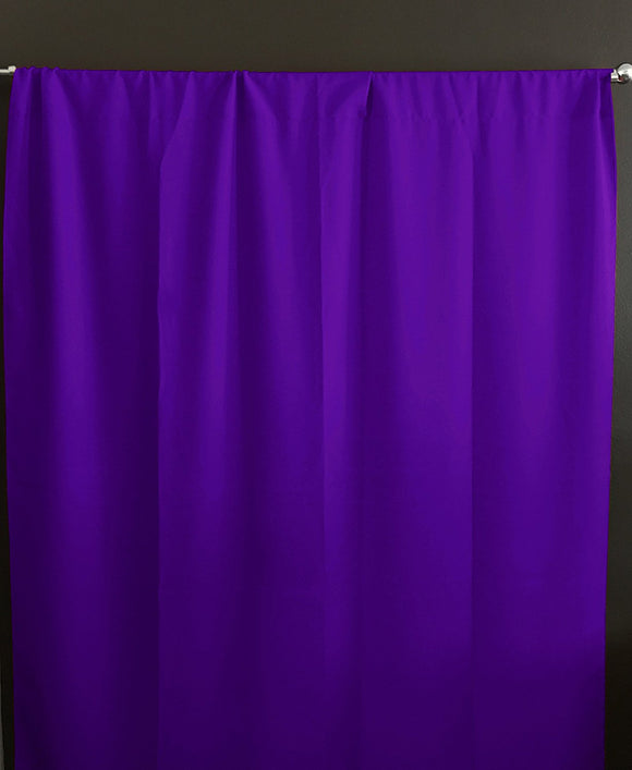 Solid Poplin Window Curtain or Photography Backdrop Purple