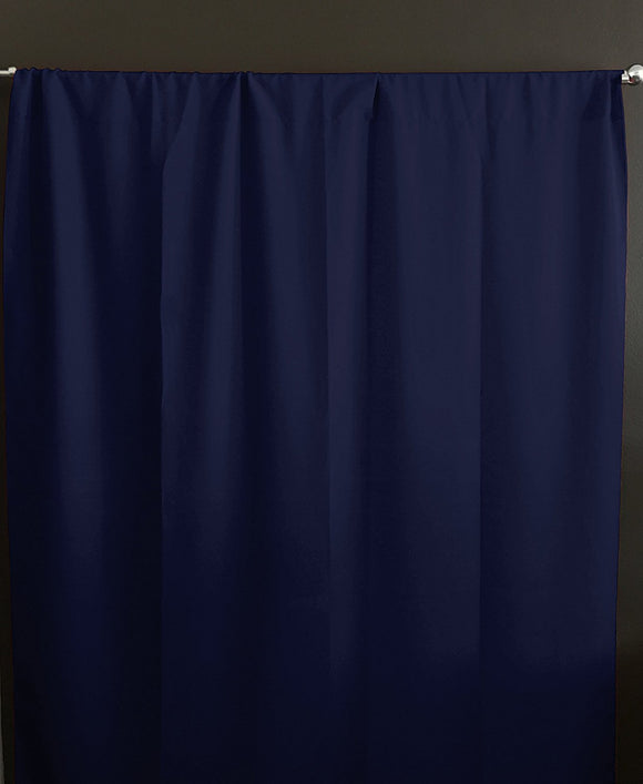 Solid Poplin Window Curtain or Photography Backdrop Navy Blue