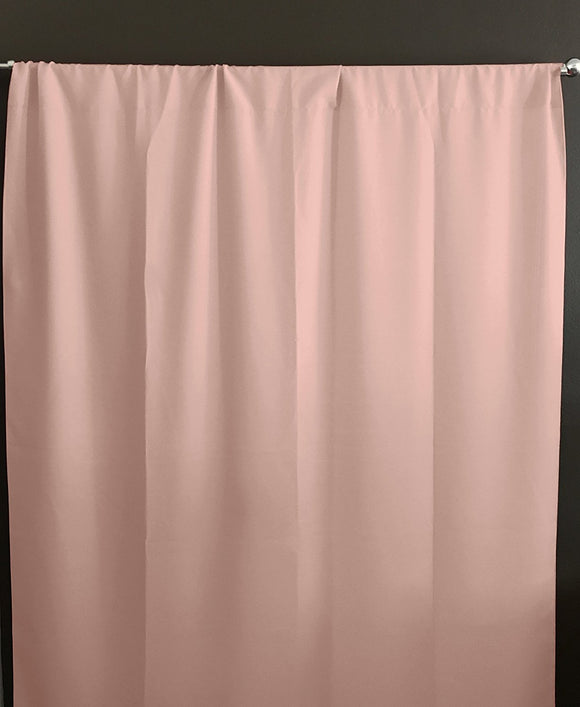 Solid Poplin Window Curtain or Photography Backdrop Light Peach