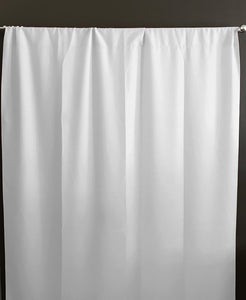 Solid Poplin Window Curtain or Photography Backdrop White