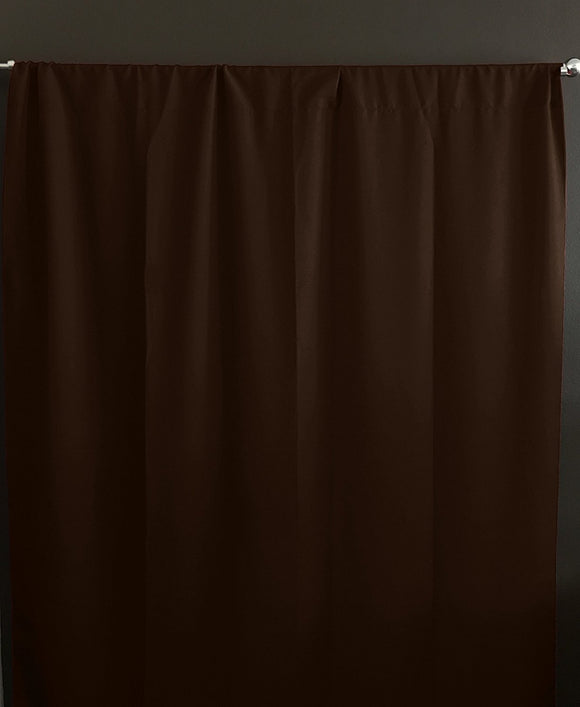 Solid Poplin Window Curtain or Photography Backdrop Chocolate Brown