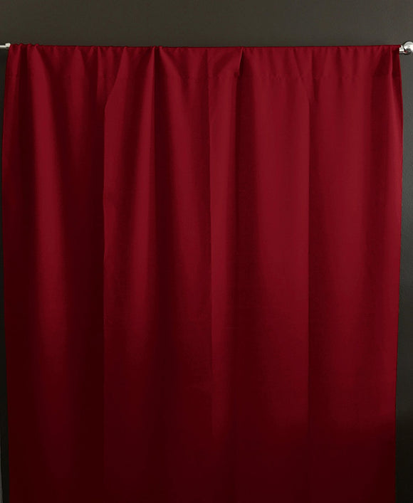 Solid Poplin Window Curtain or Photography Backdrop Cranberry Red