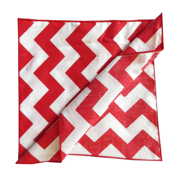 lovemyfabric Crazy About Chevron Poly Cotton Dinner Napkin 18