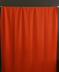 Solid Poplin Window Curtain or Photography Backdrop Orange