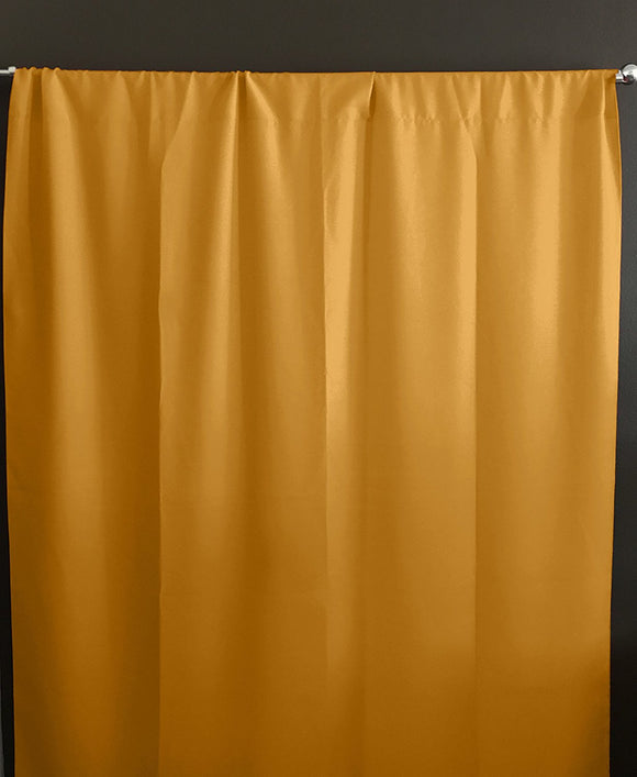 Solid Poplin Window Curtain or Photography Backdrop Marigold