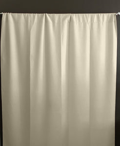 Solid Poplin Window Curtain or Photography Backdrop Ivory