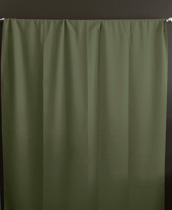 Solid Poplin Window Curtain or Photography Backdrop Dark Sage