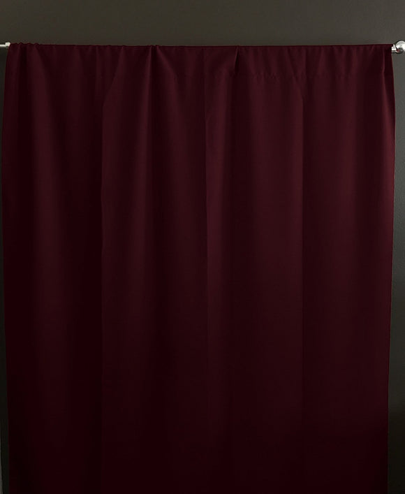 Solid Poplin Window Curtain or Photography Backdrop Burgundy