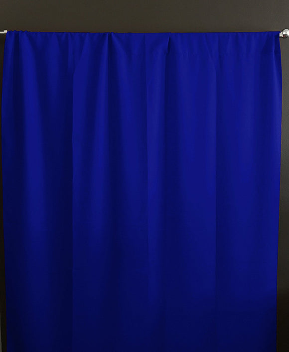 Solid Poplin Window Curtain or Photography Backdrop Royal Blue
