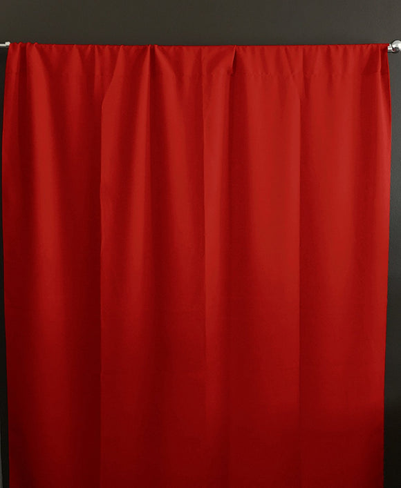 Solid Poplin Window Curtain or Photography Backdrop Red