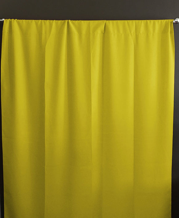 Solid Poplin Window Curtain or Photography Backdrop Lemon Yellow
