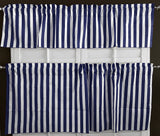 Cotton Stripes 2 Piece Window Valance Set (11 Colors)