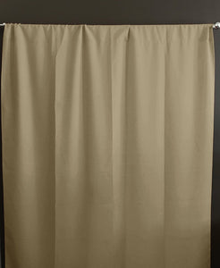 Solid Poplin Window Curtain or Photography Backdrop Beige