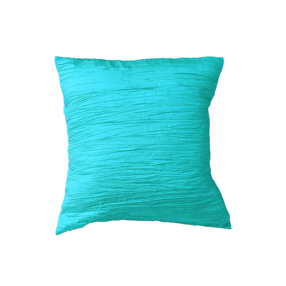 Crushed Taffeta Decorative Throw Pillow/Sham Cushion Cover Aqua