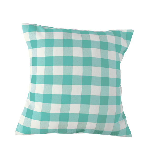 Gingham Checkered Decorative Throw Pillow/Sham Cushion Cover Aqua Mint & White