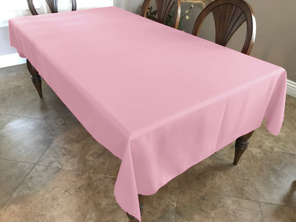 Solid Poplin Tablecloth Light Pink